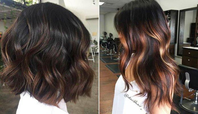 Dark Brown Hair With Highlights (1)