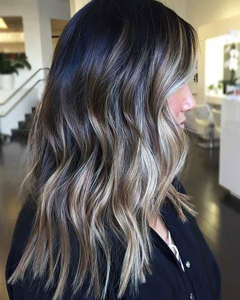 Dark Brown Hair With Highlights (11)