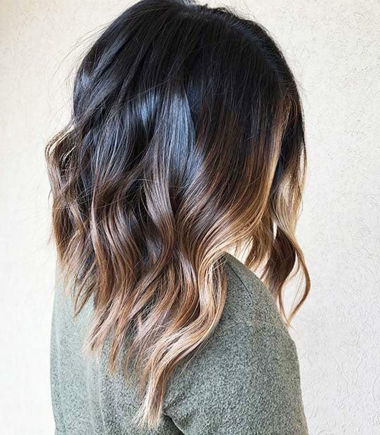 Dark Brown Hair With Highlights (2)