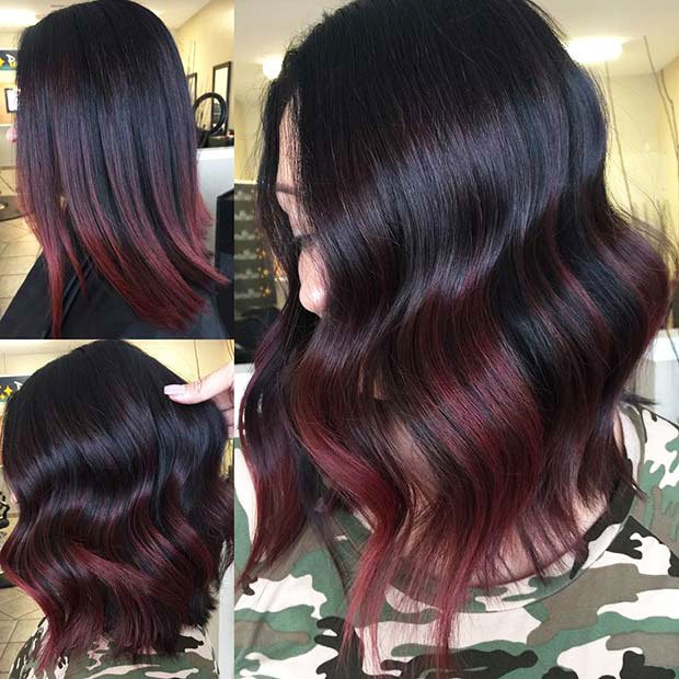 Dark Brown Hair With Highlights (3)