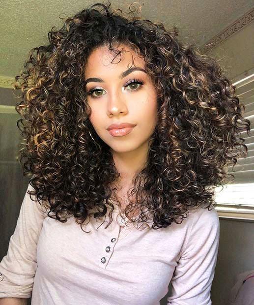 Dark Brown Hair With Highlights (4)