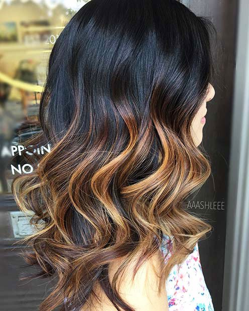 Dark Brown Hair With Highlights (5)