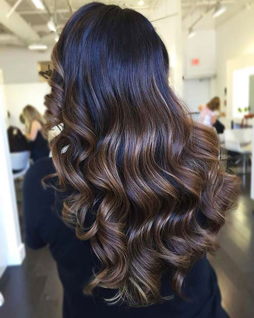 Dark Brown Hair With Highlights (7)