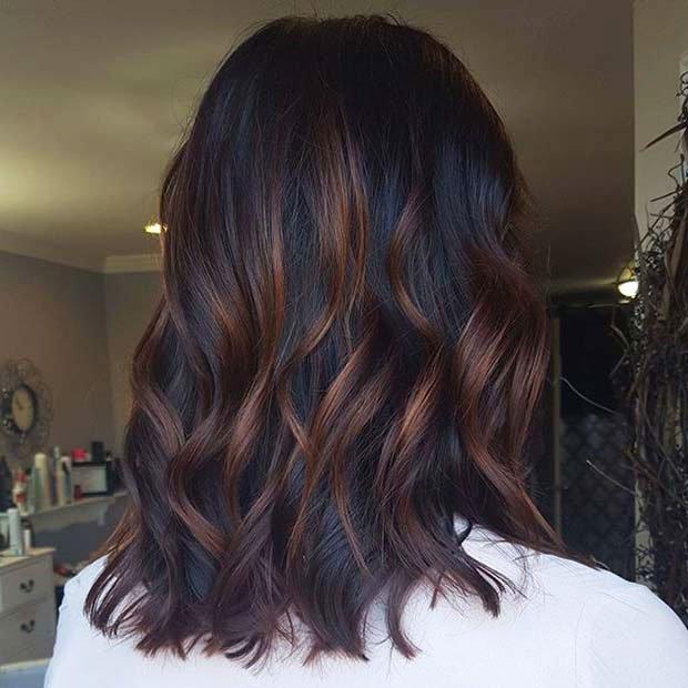Dark Brown Hair With Highlights (8)