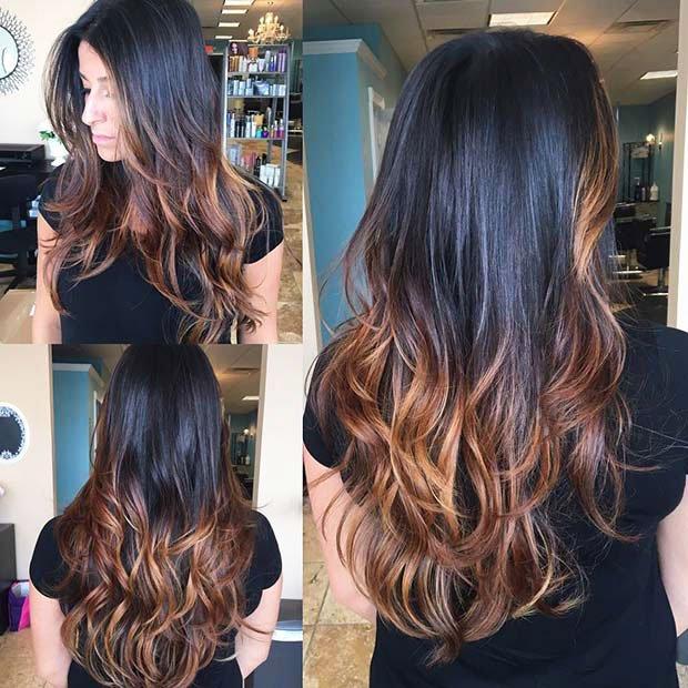 Dark Brown Hair With Highlights (9)