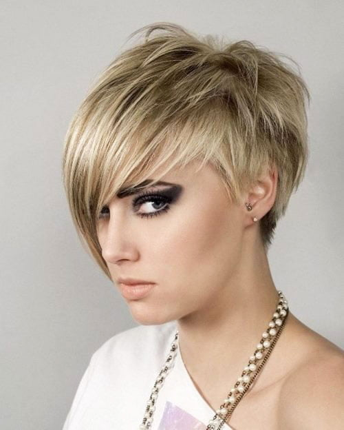 Short Pixie Easy Hairstyles for Thick Hair (14)