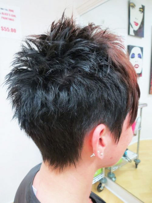 Short Pixie Easy Hairstyles for Thick Hair (18)