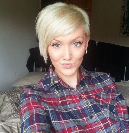 Short Pixie Easy Hairstyles for Thick Hair (25)