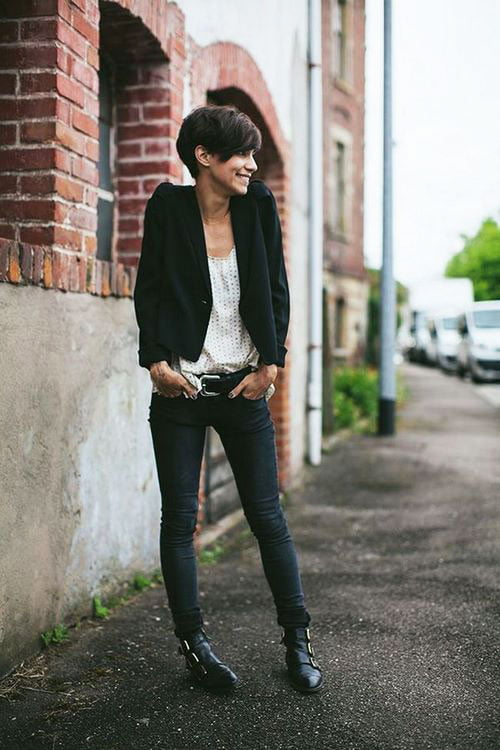 Short Pixie Easy Hairstyles for Thick Hair 48 25