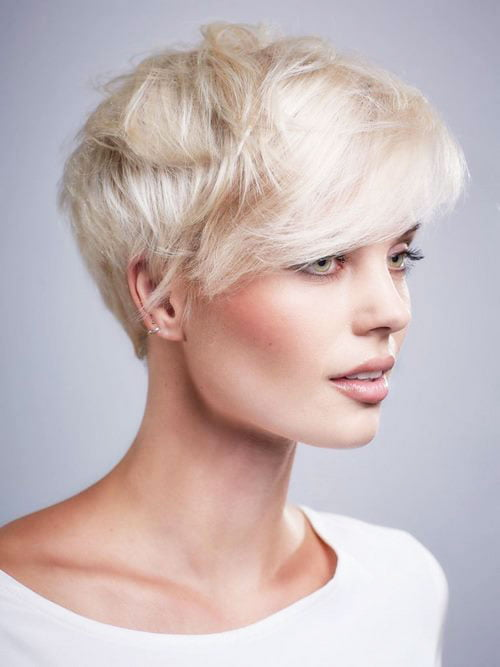 Short Pixie Easy Hairstyles for Thick Hair 59 34