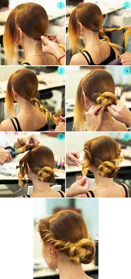 quick step by step easy hairstyles for long hair (1)