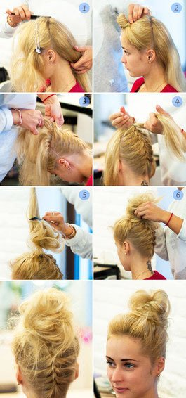 quick step by step easy hairstyles for long hair (2)