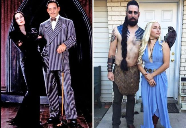 couple with full sleve halloween