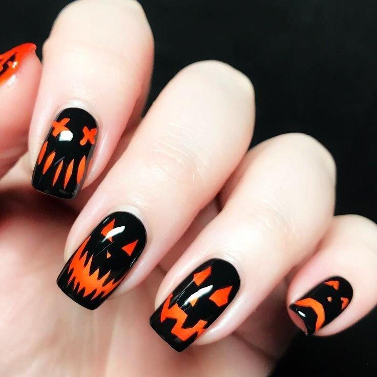 Halloween Acrylic Nails Design (1)