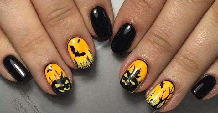 Halloween Acrylic Nails Design (3)
