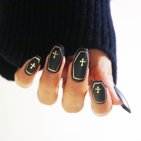 Halloween Acrylic Nails Design (4)
