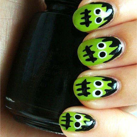Halloween Acrylic Nails Design (5)
