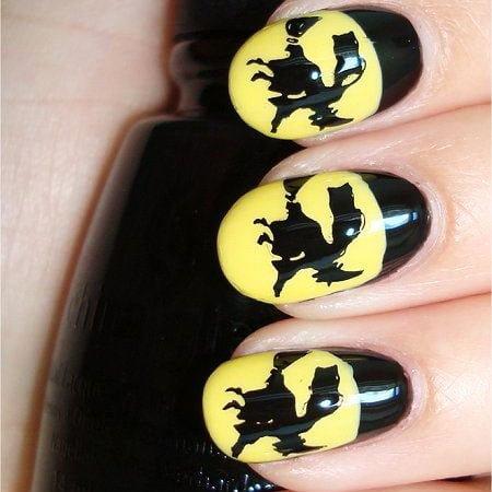 Halloween Acrylic Nails Design (6)