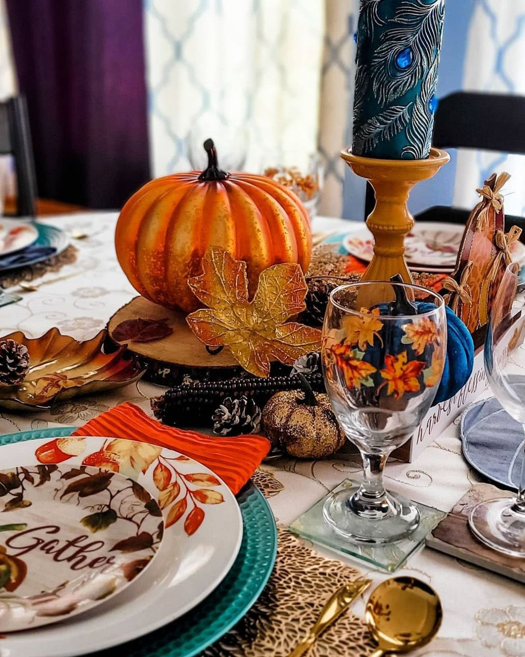 Inexpensive Thanksgiving Table Decoration Ideas (11)