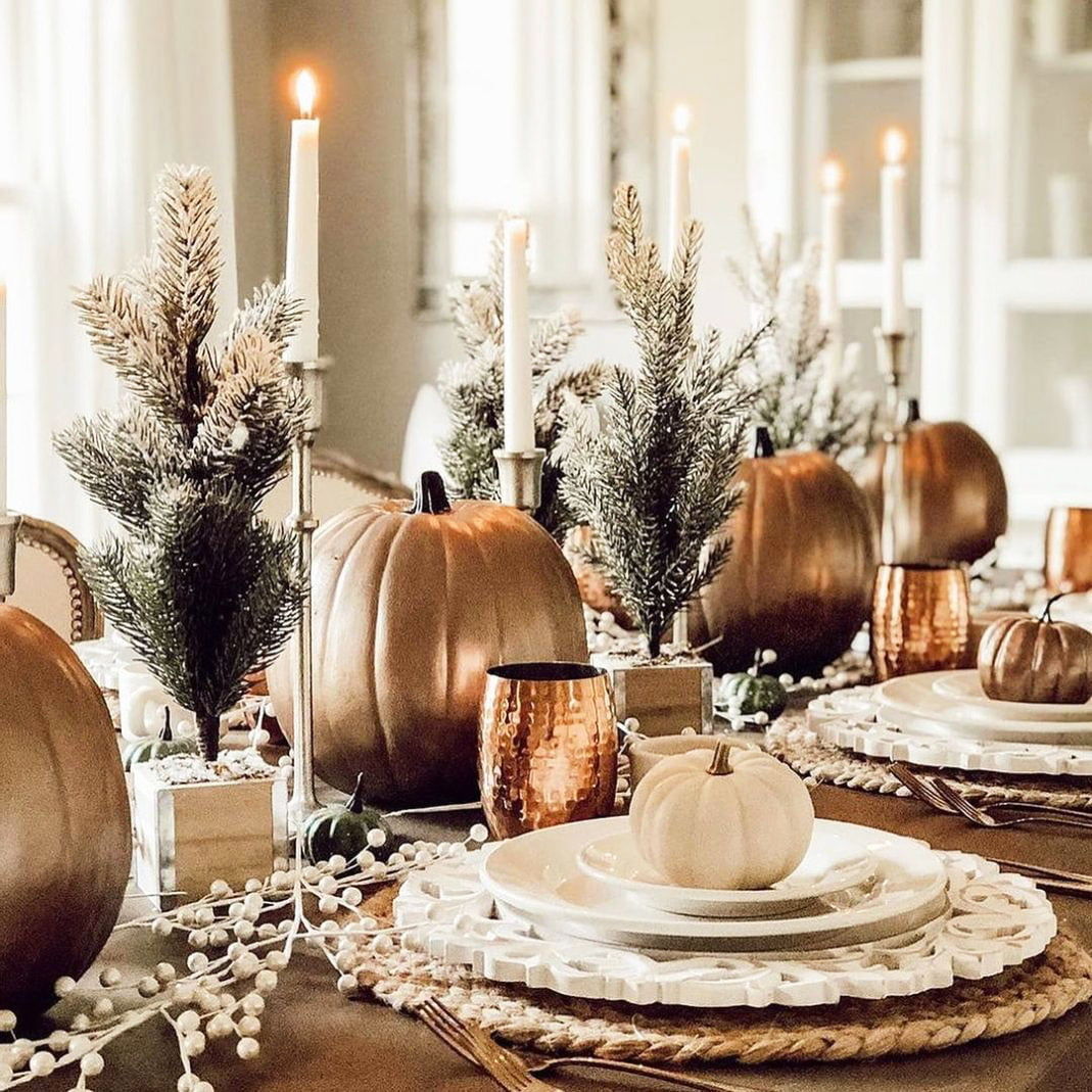 Inexpensive Thanksgiving Table Decoration Ideas (4)