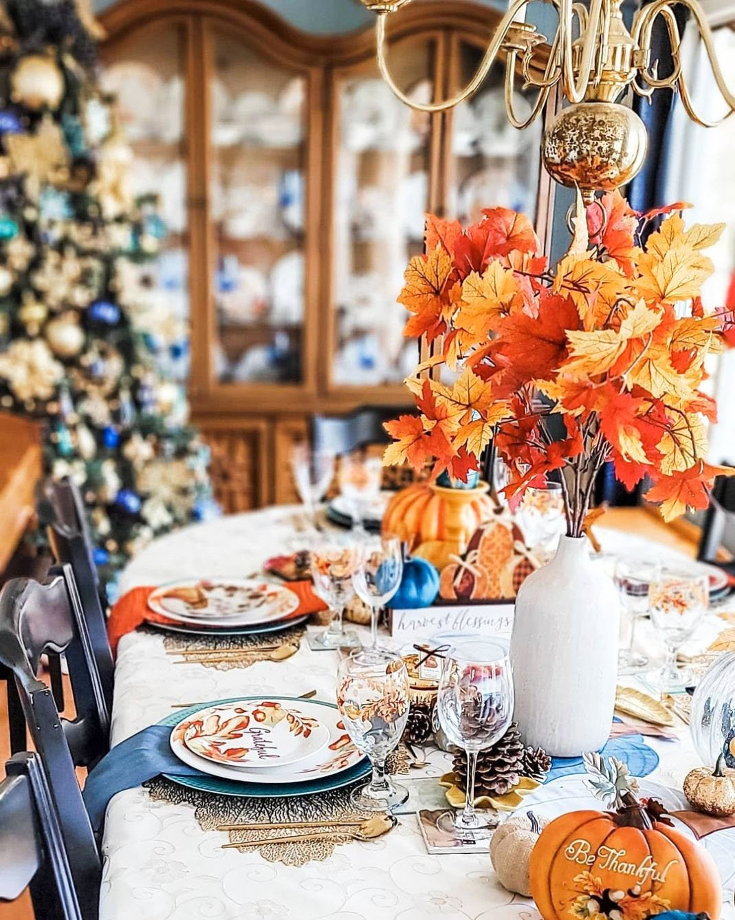 Inexpensive Thanksgiving Table Decoration Ideas (9)