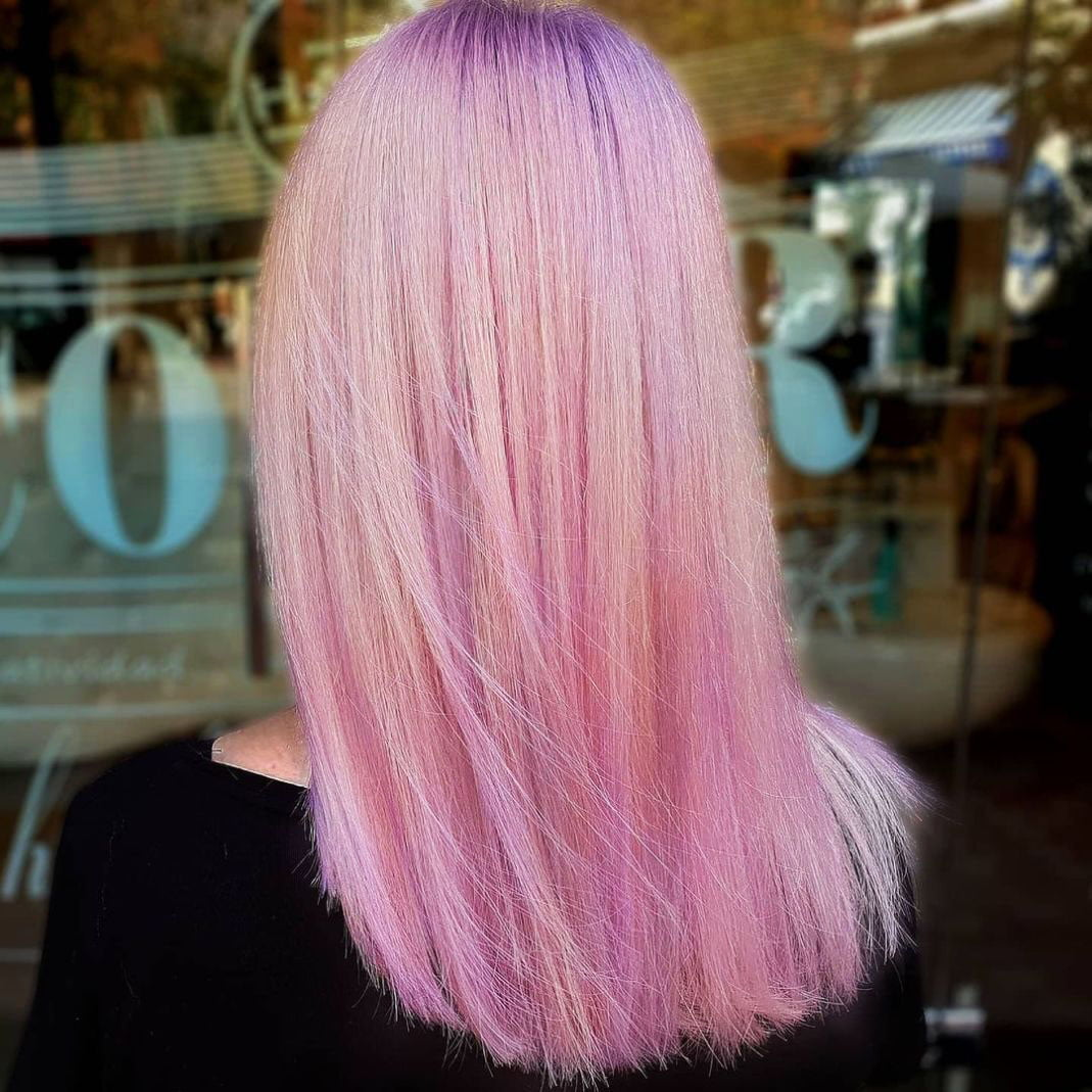 Pink hair a full palette of pink shades and coloring features 10 25