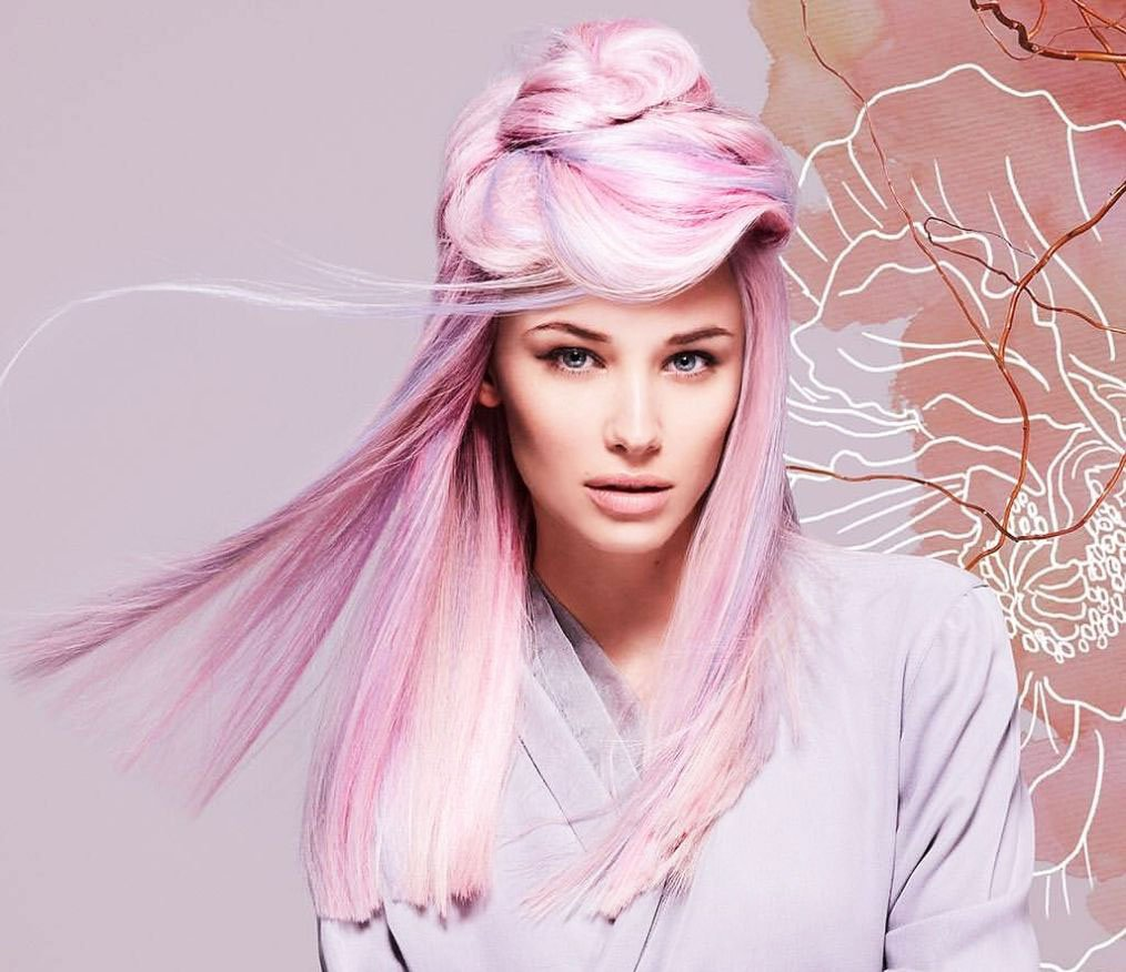 Pink hair a full palette of pink shades and coloring features 22 5