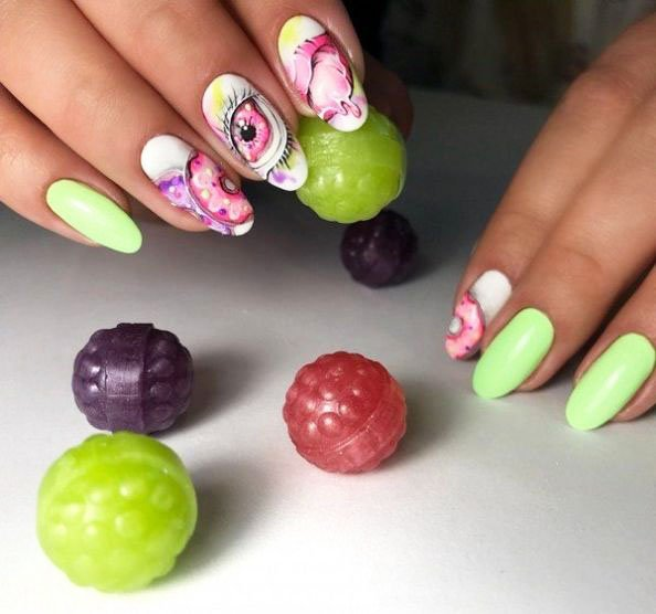 Renewed spring manicure. What the masters of nail art have prepared for us 49 13