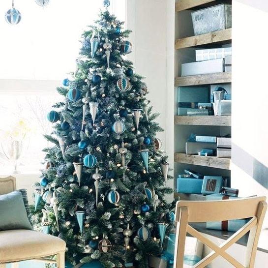Silver Blue Christmas Tree