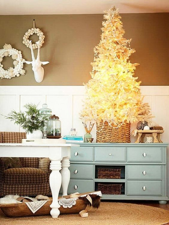 Snow-white Christmas Tree