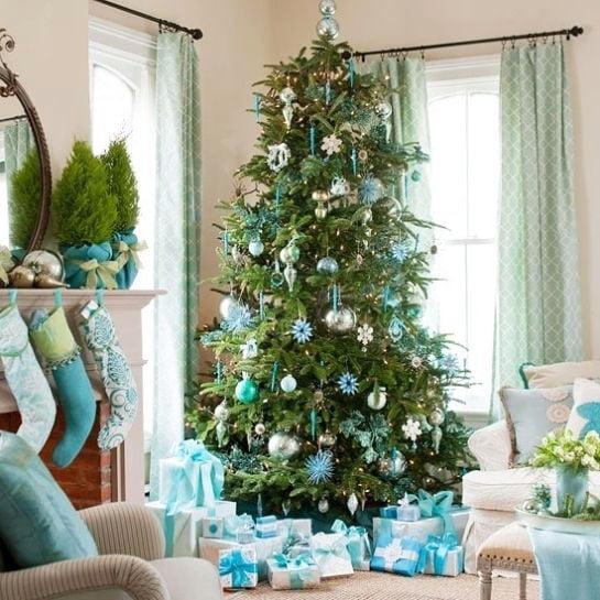 Sky Blue Christmas Tree