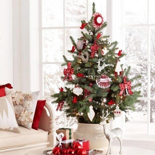 Lush Red Christmas Tree