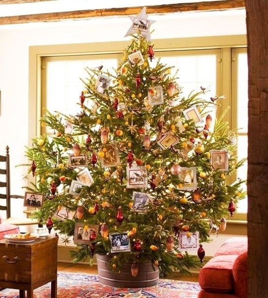Christmas Tree With Family Photos