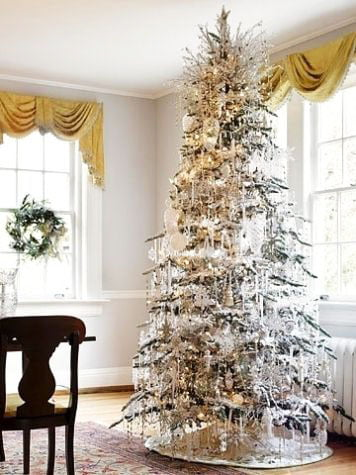 Christmas Tree Covered With Icicles