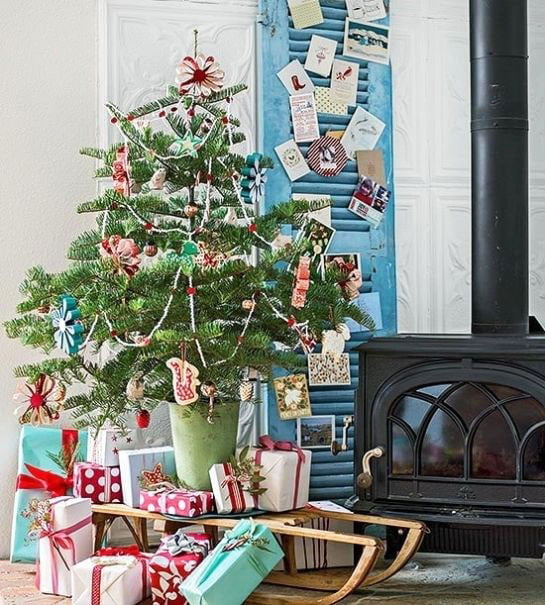 Christmas Tree With Homemade Decorations